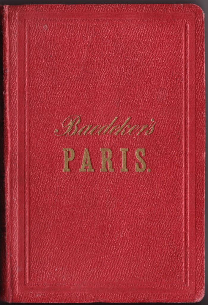 Baedeker_Paris_1860_Hardcover_guide_book_Frontcover