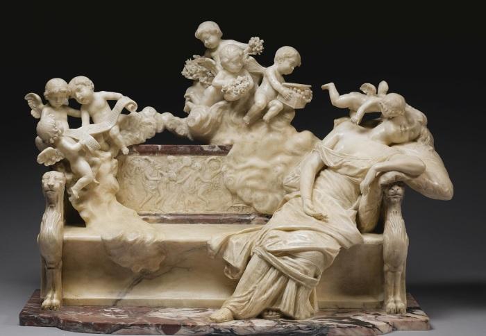 Ferdinando Vichi (Italian Sculptor 1875-1945) Sweet Dreams
